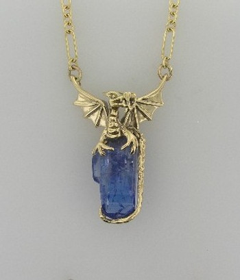 Tanzanite Crystal Dragon Treasure - SOLD