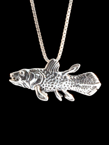 Coelacanth Charm - Silver