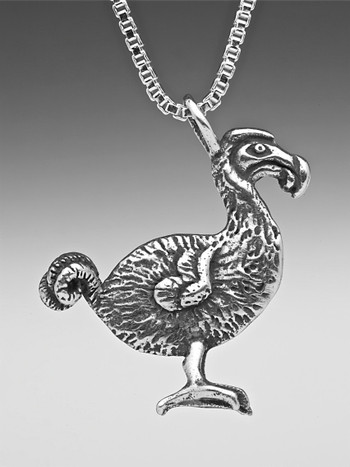Dodo Bird Charm in Silver