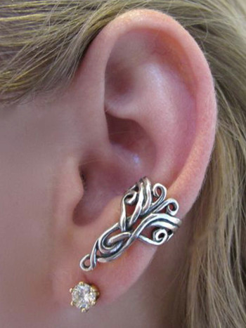 Sterling Silver Arabesque Ear Cuff