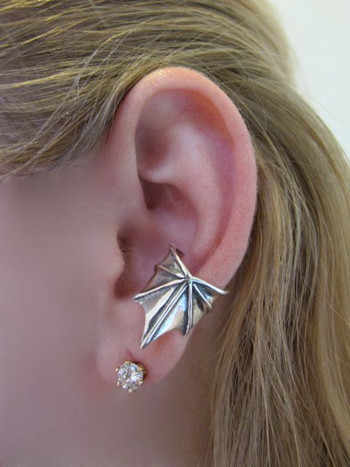 Ear Wing Ear Cuff Silver