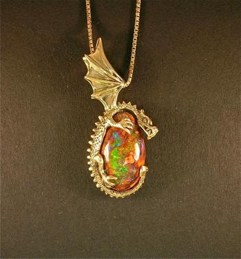 Grotto Dragon Pendant_SOLD