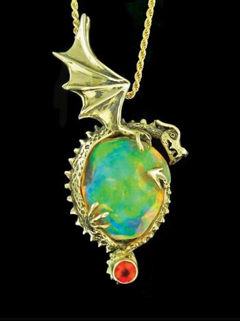 Aurora Borealis Fire Dragon_Sold