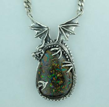 Korite Opal Dragon Pendant_SOLD