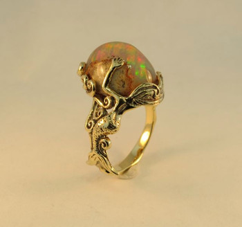 Sunrise Mermaid Opal Ring - SOLD