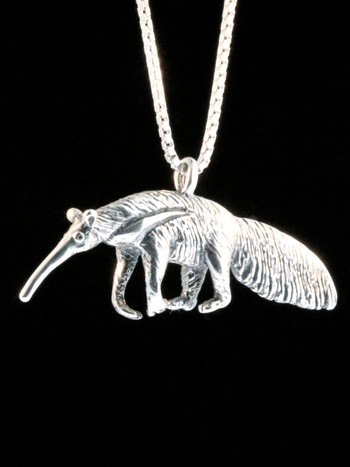 Giant Anteater Charm -Silver
