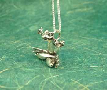 Zen Frog Charm - Silver