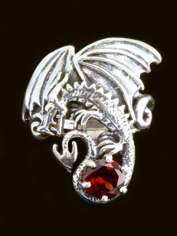 Magic Dragon Ring with Gemstone