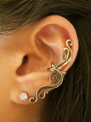 French Twist Ear Cuff in Bronze
