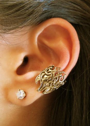 Flame Ear Cuff in Bronze