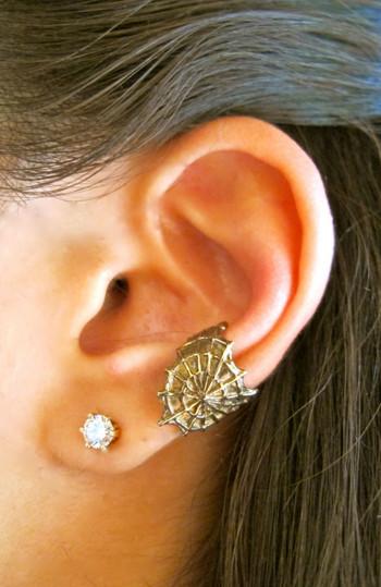 CobWeb Ear Cuff - Bronze