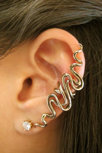 Sidewinder Ear Cuff - Bronze