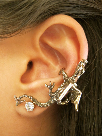 Dragon Ear Climber Cuff in Bronze