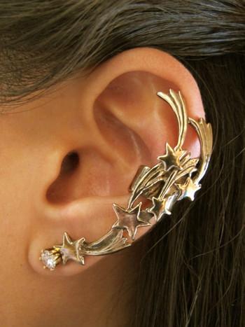 Comet Ear Cuff - Bronze