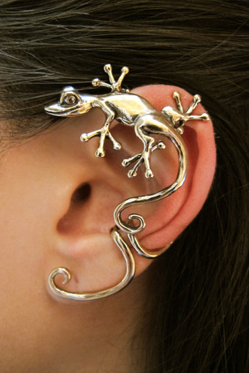 Curious Gecko Ear Wrap - Bronze