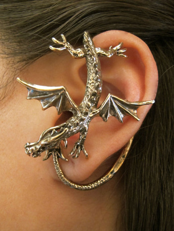 Dragon Sentry Ear Wrap - Bronze