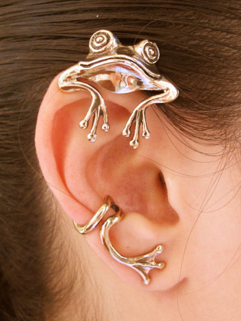 Curious Frog Ear Wrap - Bronze
