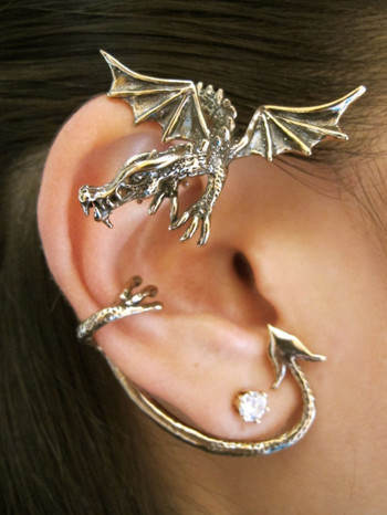 Guardian Dragon Ear Wrap in Bronze