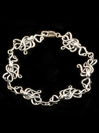 Octopus Bracelet in Sterling Silver