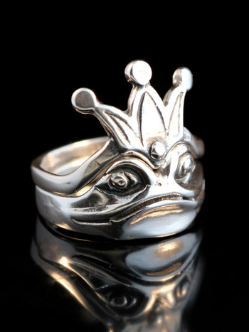 Enchanted Frog and Crown Ring- Two Parts