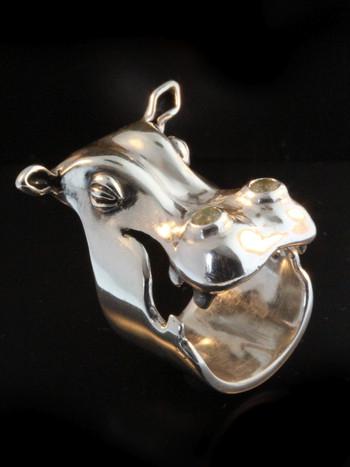 Henrietta Hippo Ring With Moonstones