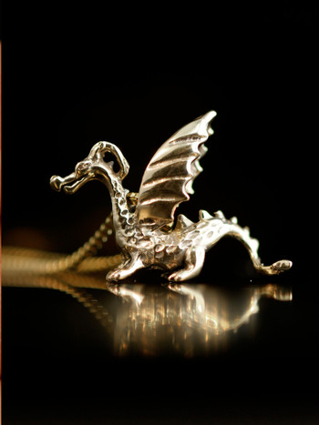 Gold Baby Dragon Charm - 14k Gold