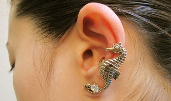 Seahorse Ear Cuff - Bronze