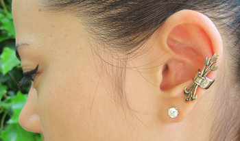 Quiver and Arrows Ear Cuff in Bronze