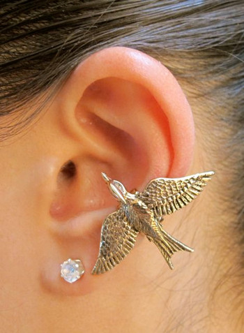 Mocking Jay Ear Cuff in Bronze