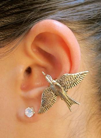 Mocking Jay Ear Cuff - Bronze