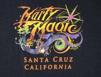 Women's Black Colorful Marty Magic Dragon T-shirt
