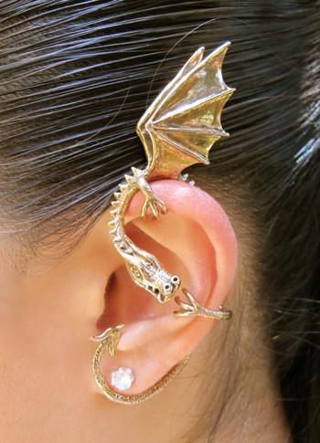 Elfin Dragon Ear Wrap in Bronze