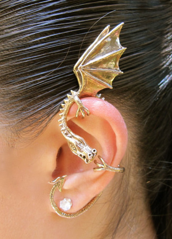 Elfin Dragon Ear Wrap in Bronze