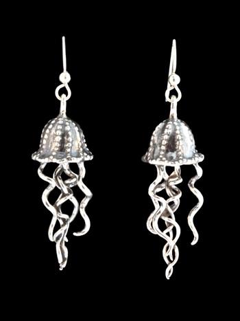 Jellyfish Earrings - Silver
