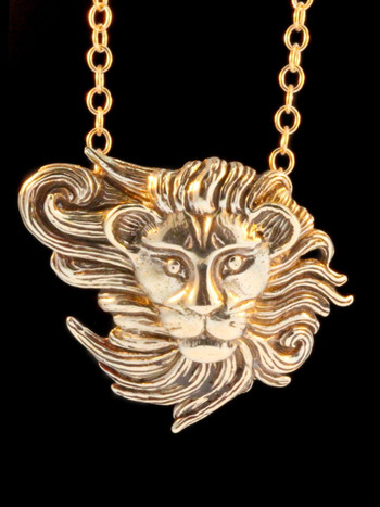 Wind Lion Pendant - Bronze