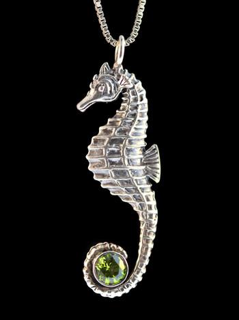 Seahorse With Peridot