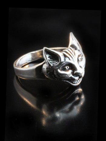 Cheshire Cat Ring - Silver