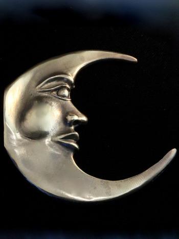 Moon Hook Sculpture - Bronze