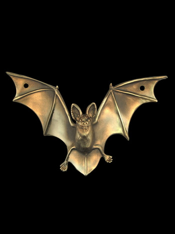 Bat Drawer Pull Sculpture - Bronze
