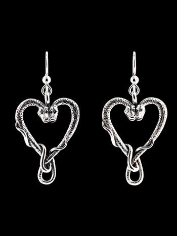 Viper Valentine Earrings - Silver