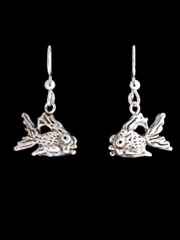 Goldfish Earrings - Silver