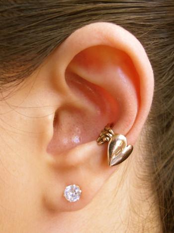 Angel Heart Ear Cuff - Bronze