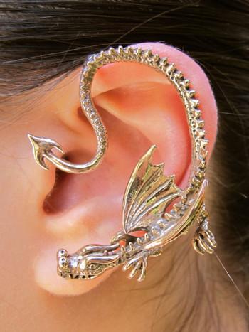 Throne Dragon Ear Wrap in Bronze