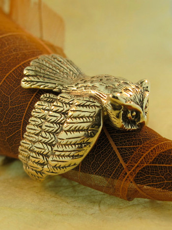 Owl Ring - 14k Gold