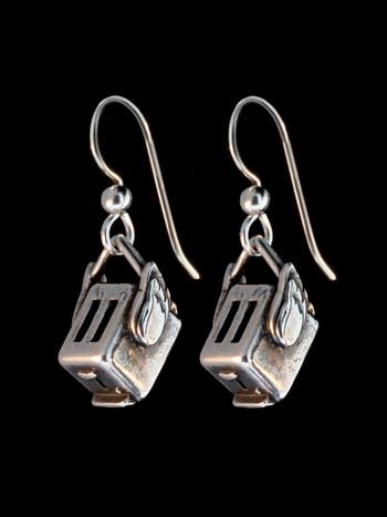 Flying Toaster Earrings