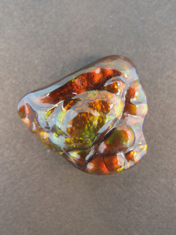 17.5 ct carved Arizona fire agate