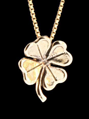 Four Leaf Clover Charm in 14k Gold