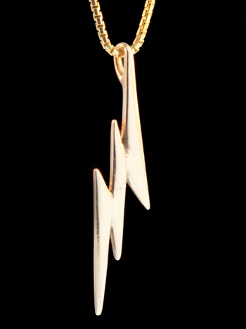 Gold Lightning Bolt Charm