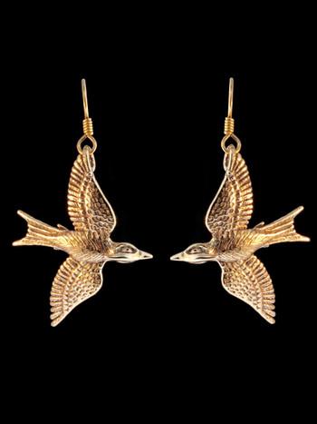 Mocking Jay Earrings in Bronze