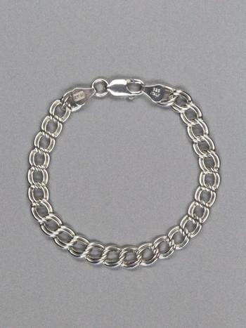 Double Linked Charm Bracelet - Silver